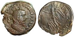 "Ancient Coins - Postumus AE Double Sestertius ""VICTORIA AVG Victory Trampling Captive"" 261 AD"