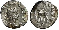 "Ancient Coins - Gallienus AE Antoninianus ""IOVI CONS AVG Goat Standing Left"" About EF"