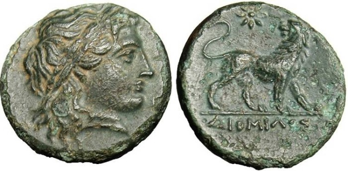 "Ancient Coins - Ionia, Miletos ""Lion"" Unpublished Magistrate DIOMILOS EF Rare"