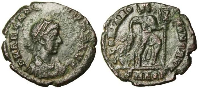 "Ancient Coins - Arcadius AE3 ""GLORIA ROMANORVM"" Aquileia RIC 45c Scarce VF"