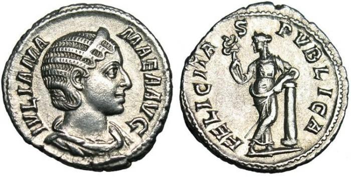 "Ancient Coins - Julia Mamaea, AR Denarius ""Felicitas"" Rome RIC 335 EF"