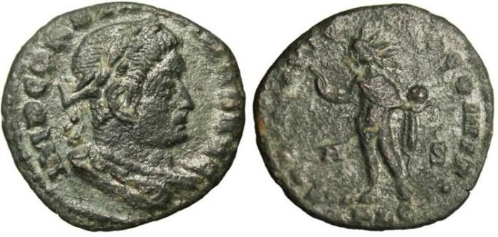 "Ancient Coins - Constantine I The Great, AE3 ""Sol"" Lugdunum RIC 51 R5 Rare VF"