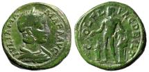 "Ancient Coins - Julia Mamaea AE24 of Thrace, Deultum ""Apollo, Altar & Lyre"" Rare gF Green"