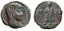 "Ancient Coins - Divus Constantine I The Great AE14 ""VN-MR Veneration of Memory"" Antioch Rare gVF"