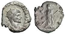 "Ancient Coins - Quintillus Fully Silvered Antoninianus ""PAX AVGVSTI Pax"" Rome 270 AD RIC 26 gVF"