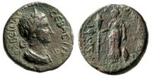 "Ancient Coins - Sabina (Wife of Hadrian) AE21 ""Artemis Tauropolos, Torch"" Macedonia Amphipolis"