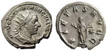 "Ancient Coins - Trebonianus Gallus Antoninianus ""PIETAS AVGG Pietas, Hands"" Rome RIC 42 VF"