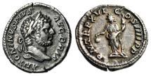 "Ancient Coins - Caracalla AR Denarius ""Libertas, Pileus & Rod"" Rome 213 AD RIC 209a VF Toned"