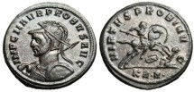 "Ancient Coins - Probus AE Ant. ""VIRTVS PROBI AVG Spearing Enemy From Horse"" Serdica RIC 878"