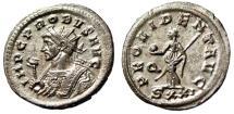 """Ancient Coins - Probus Silvered Antoninianus """"PROVIDENT AVG Providentia"""" Ticinum RIC 490 gVF"""