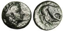 "Ancient Coins - Mysia, Plakia (Placia) AE11 ""Cybele & Lion Killing Prey"" Scarce 4th Century BC"
