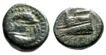 "Ancient Coins - Megaris, Megara AE14 ""Prow & Clockwise Dolphins Ethnic"" Circa 4th-3rd Century BC"