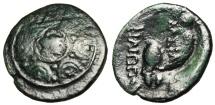 "Ancient Coins - Philip V Of Macedonia AE16 ""Macedonian Shield Persues & Helmet"" Scarce"