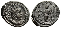 "Ancient Coins - Victorinus AE Antoninianus ""Features of Marius / Aequitas"" 1st Emission 269 EF"