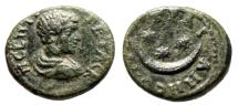 "Ancient Coins - Geta AE18 ""Crescent and 3 Three Stars"" Thrace, Augusta Traiana nVF"