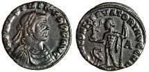 "Ancient Coins - Maximinus II Daza AE Follis ""IOVI CONSERVATORI AVGG NN Jupiter"" Siscia RIC 234b"