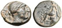 "Ancient Coins - Phrygia, Laodicea AE16 ""Aphrodite Seated Left"" Rare BMC 25-26 Variant EF"