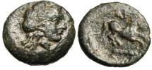 "Ancient Coins - Troas, Gargara AE13 ""Apollo & Horse With Club Below"" Scarce Type nVF"