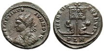 "Ancient Coins - Constantine II AE20 ""Radiate Bust Left & Captives, Vexillum"" London RIC 197 Rare"