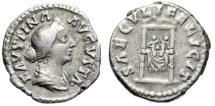 "Ancient Coins - Faustina II Junior (Wife of Marcus Aurelius) ""SAECVLI FELICIT Infants on Throne"""