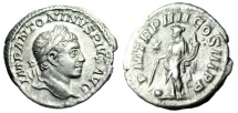 "Ancient Coins - Elagabalus Silver Denarius ""Providentia With Globe"" Rome 211 AD RIC 42 var VF"