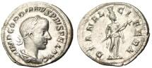 "Ancient Coins - Gordian III Silver Denarius ""DIANA LVCIFERA Diana Light Bringer"" Rome RIC 127 EF"