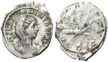 "Ancient Coins - Mariniana (Wife of Valerian I) AR Antoninianus ""Veiled Portrait & Peacock"" Rare"