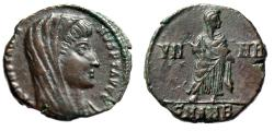 """Ancient Coins - Divus Constantine I The Great AE14 """"VN-MR Veneration of Memory"""" Antioch Rare gVF"""