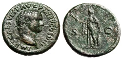 "Ancient Coins - Titus AE As ""Spes Walking, Flower & Skirt"" Rome 80-81 AD RIC 237 Choice VF"