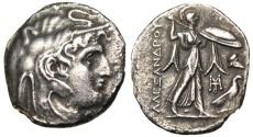 "Ancient Coins - Ptolemy I Tetradrachm in the Name Alexander III ""Elephant Headdress & Athena"" Rare EF"