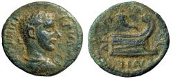 """Ancient Coins - Philip I The Arab AE19 of Coela, Thrace """"Prow Right, Cornucopiae Atop"""" Very Rare"""