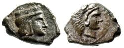 "Ancient Coins - Sicily, Himera (as Thermai Himerenses) AE15 ""Hera & Herakles"" Rare Choice EF"