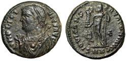 "Ancient Coins - Licinius I AE19 ""Consular Bust & Jupiter, Wreath"" Cyzicus RIC 9 VF"