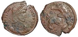 "Ancient Coins - Constantius II Centenionalis ""Soldier Spearing Horse Rider"" Constantinople 106"