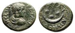 """Ancient Coins - Geta AE18 """"Crescent and 3 Three Stars"""" Thrace, Augusta Traiana nVF"""
