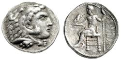 "Ancient Coins - Alexander III The Great Silver Tetradrachm ""Herakles, Zeus"" Ake-Ptolemais Scarce"