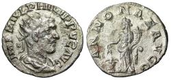 "Ancient Coins - Philip I AR Antoninianus ""ANNONAE AVGG Annona"" Unpublished Variety Very Rare"