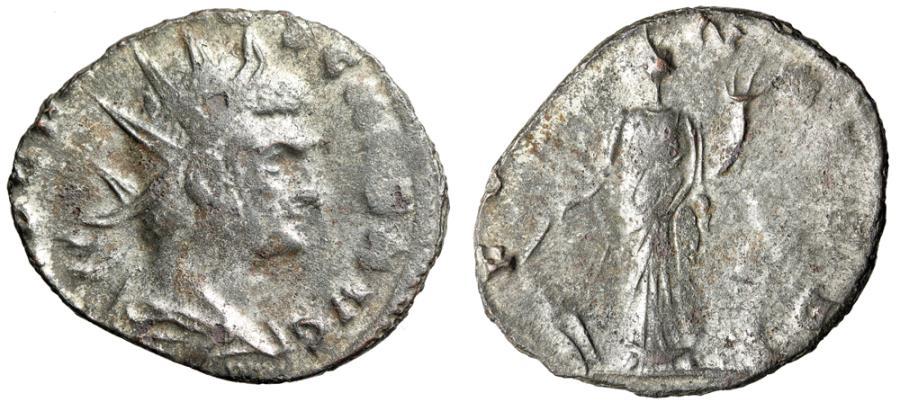 """Ancient Coins - Claudius II Gothicus Silvered Antoninianus """"IMP CLAVDIVS CAES AVG"""" RIC 180 Corr"""