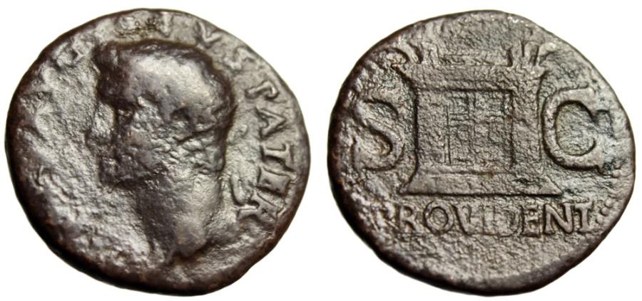 "Ancient Coins - Augustus Posthumous AE27 ""Divus Radiate Bust & Altar PROVIDENT"" Rome 22-30 AD"