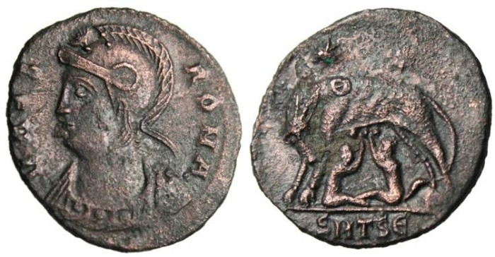 "Ancient Coins - Rome Commemorative ""She-Wolf Suckling Founders of Rome"" Thessalonica"