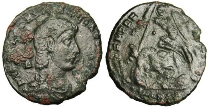 """Ancient Coins - Constantius Gallus Centenionalis """"Spearing Horseman"""" Constantinople"""