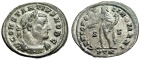 "Ancient Coins - Constantius I Chlorus Silvered Follis ""Genius"" Trier RIC 603 Scarce Good VF"