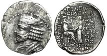 "Ancient Coins - King of Parthia: Vardanes I AR Tetradrachm ""Vardanes & Tyche"" Seleucia SE 356"