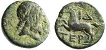 """Ancient Coins - Pisidia, Termessos Major AE17 """"Zeus & Free Horse, I Delta"""" Rare BMC Unlisted"""