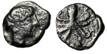 "Ancient Coins - Sicily, Syracuse AE Onkia ""Female Head (Arethusa ?) & Octopus"" 5th Century BC"