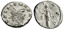 """Ancient Coins - Gallienus Silvered Antoninianus """"PAX AVG Pax S-I"""" Siscia RIC 575 Extremely Fine"""