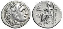 "Ancient Coins - Alexander III The Great AR Drachm ""Herakles & Zeus, Z"" Abydos Under Antigonos I"