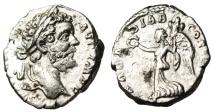 "Ancient Coins - Septimius Severus Silver Denarius ""ARAB ADIAB COS II PP Victory"" Rome RIC 64 VF"