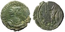 "Ancient Coins - Carausius AE Antoninianus ""PAX AVGG Pax, Branch"" Irregular Mint nEF For Type"