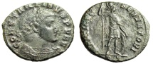 "Ancient Coins - Constantine I The Great AE Follis ""MARTI CONSERVATORI Mars"" Ticinum RIC 124a VF"